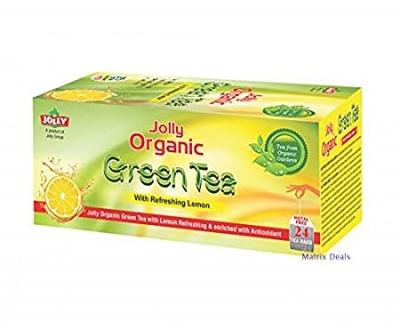 Jolly Organic Green Tea 24t Bags - Refreshing Lemon