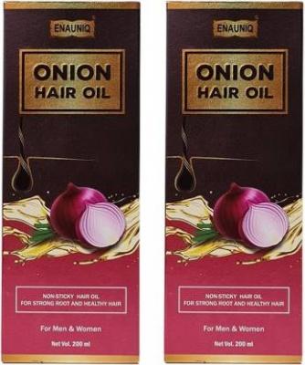 Enauniq Onion Hair Oil 200ml Pack of 2
